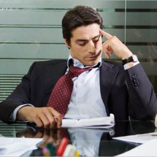 Employee looking bored and disengaged