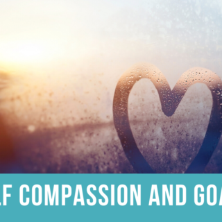 Self-compassion depicted by heart in field